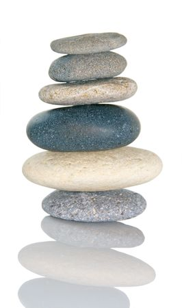 Rocks balanced on each other to symbolize balance in life and business.