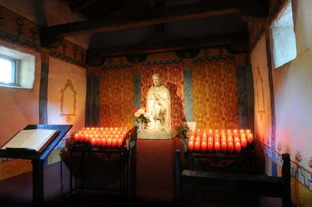 Chapel with burning candles