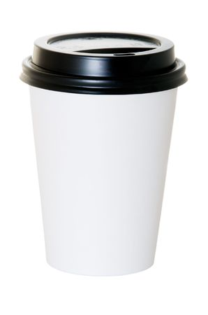 lids: Paper coffee container with black lid