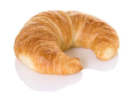 perfectly: Beautiful perfectly baked croissant roll