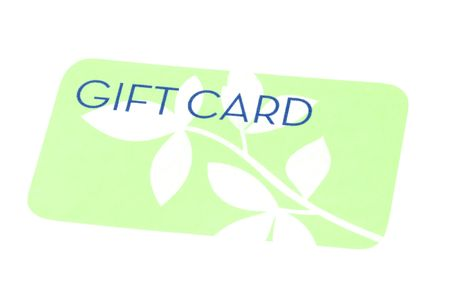 Bright green generic gift card