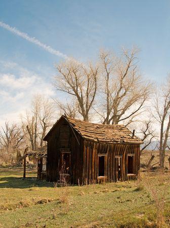 Old wood cabin Imagens