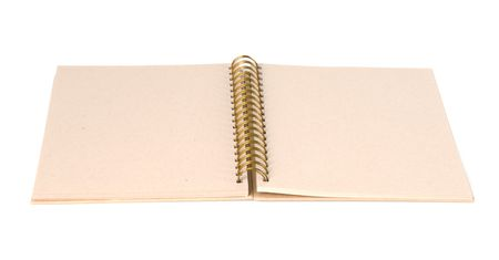 Open blank scrapbook or journal