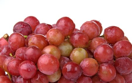 Red grape bunch close up Imagens
