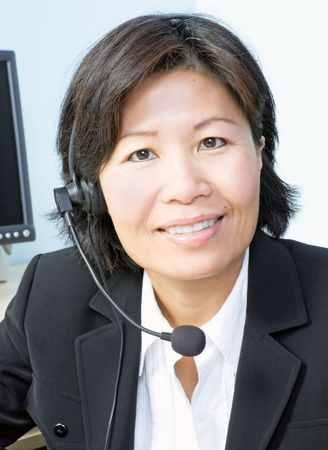 Vrouw met hoofdtelefoon