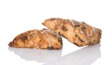 Freshly baked cranberry orange scones Stock Photo