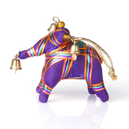 Indian stuffed elephant ornament for Christmas tree or other decoration photo