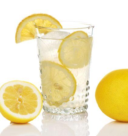 Old style glass of lemonade Banco de Imagens