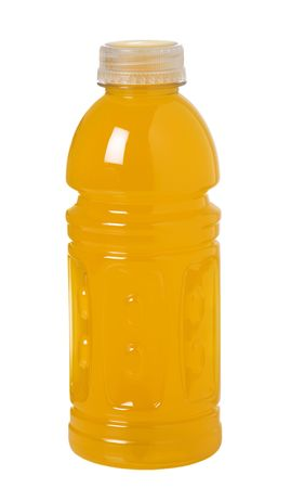 enriched: Bottle of orange sport drink with vitamins to keep you hydrated while active
