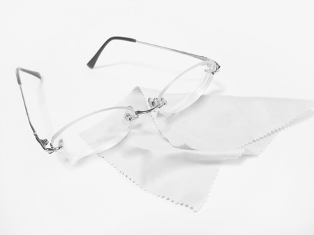 Glasses and cloth Stock Photo