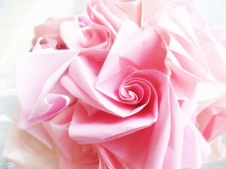 Rose made from paper