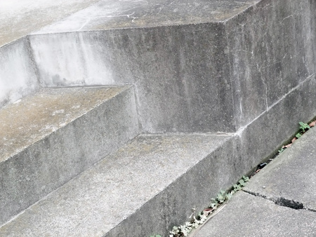 Step of stone stairs