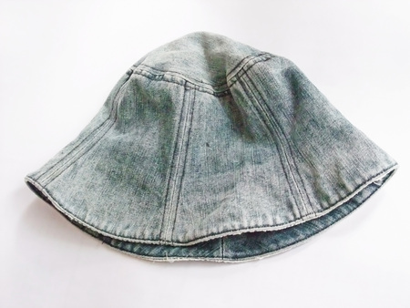 This is a hat of the denim. 写真素材