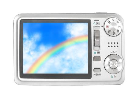 A camera with a rainbow Stock fotó