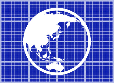 The earth which suits a solar panel