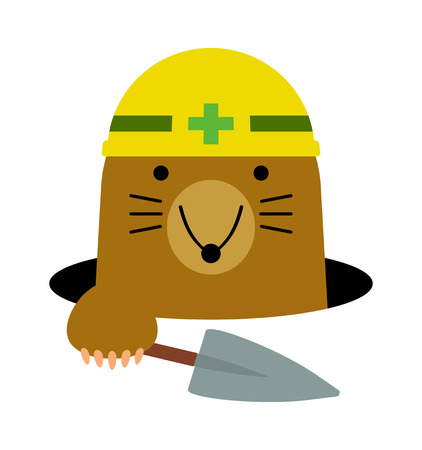 A mole is digging a hole.