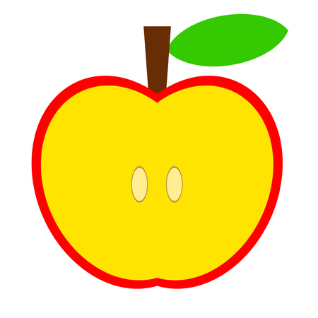 This is the aspect of the apple.