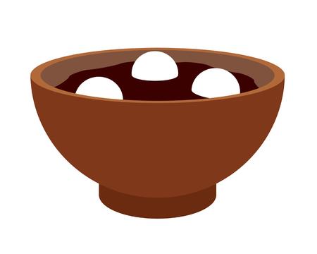 Rice-flour dumpling thick bean-meal soup Reklamní fotografie