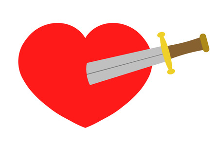 The sword which sticks in a heart Banco de Imagens