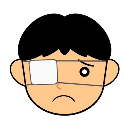 A person wearing an eyepatch.