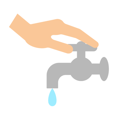 The hand which stops a faucet.