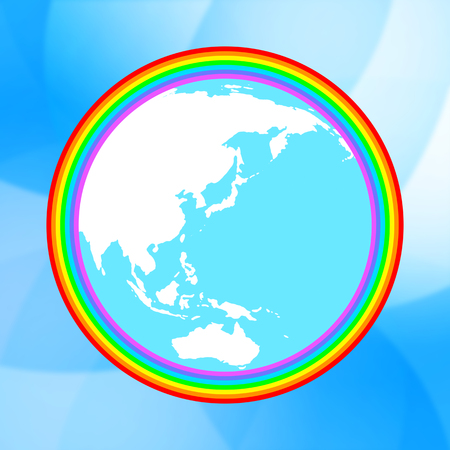 The earth in the rainbow