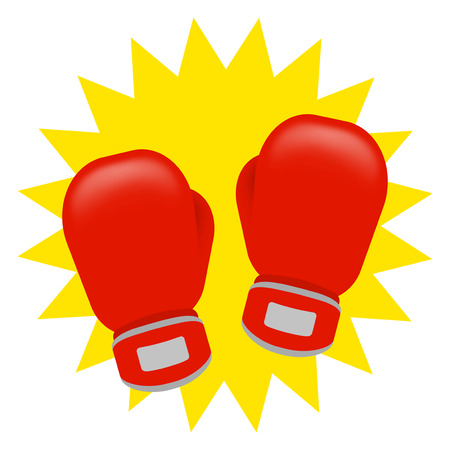 Glove of a boxing