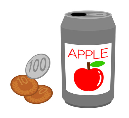 Canned juice and money