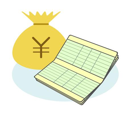 Passbook and money Stock fotó