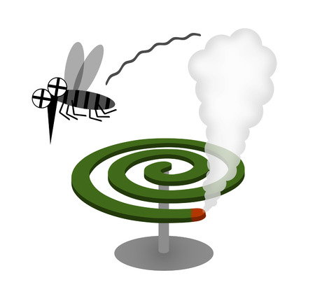 A mosquito dies of a mosquito coil.