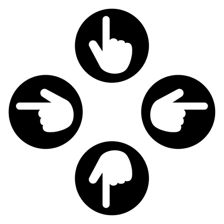Icon with the shape of the finger