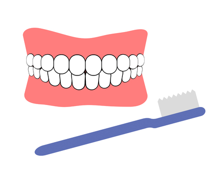 Artificial tooth and a toothbrush