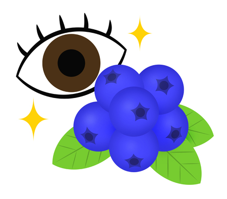 Blueberry and eye