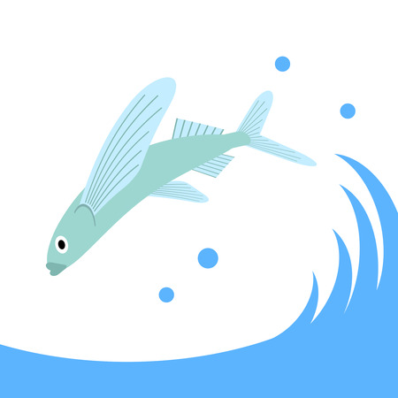 Flying fish Stock Photo