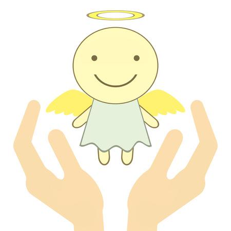 Angel is protected. Фото со стока