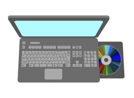 A disk is used by a PC.