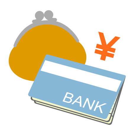 Bankbook and a wallet