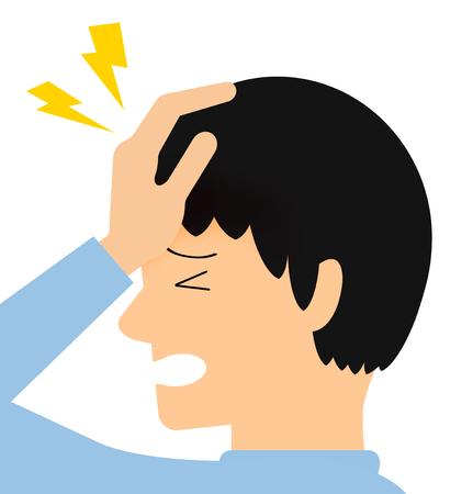The man who suffers from a headache. Banco de Imagens - 119830773