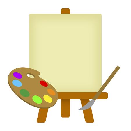 Canvas and a palette Stock fotó