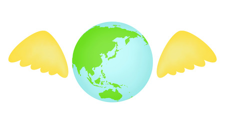 The earth with a wing
