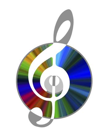 Musical disk Stock fotó