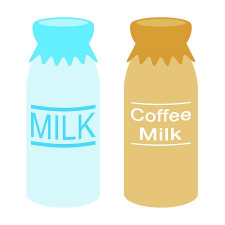 Milk and milk coffee Stock fotó