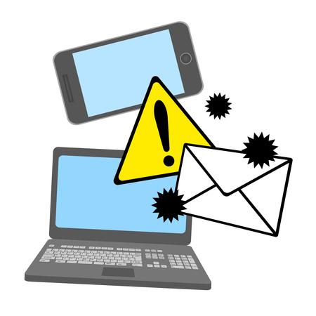 Danger on a virus mail.