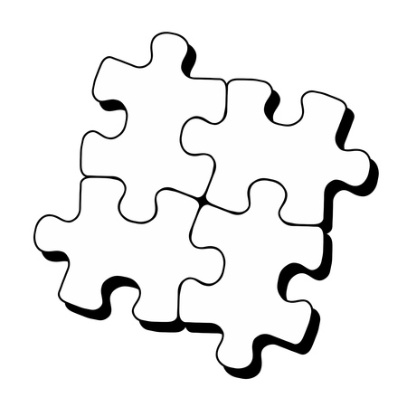 Piece of a jigsaw puzzle