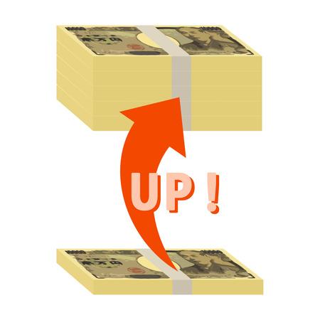 Assets increase. Stockfoto