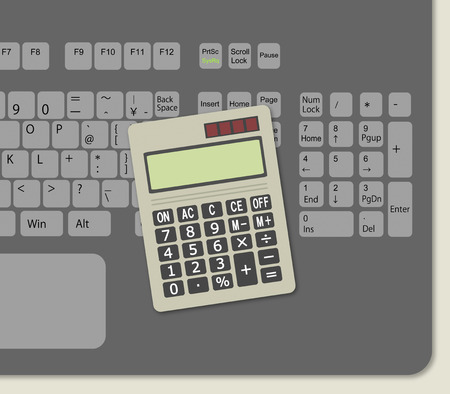 Keyboard and a calculator