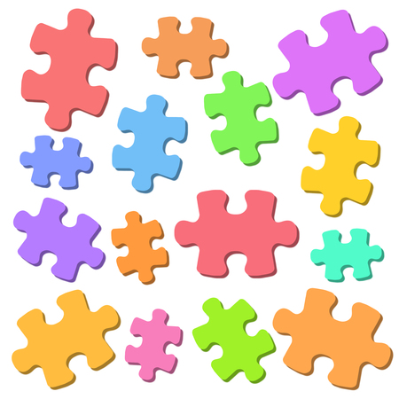 The background of a jigsaw puzzle.