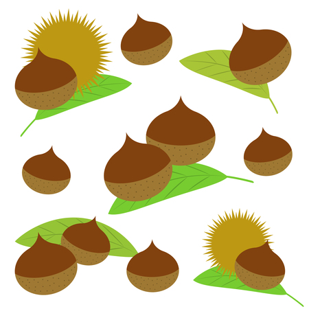 Background of chestnuts Stock Photo - 120933497