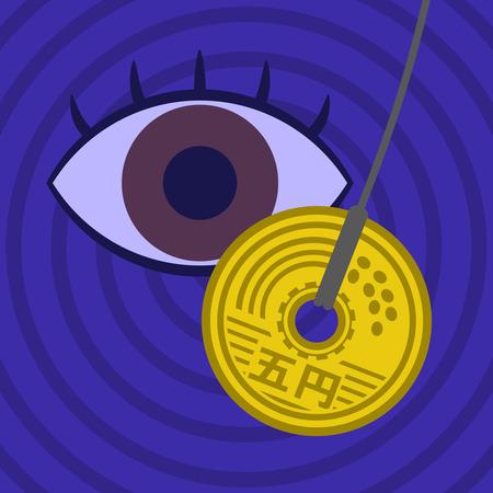Hypnotism using money.