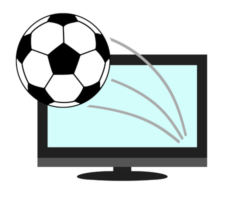 The soccer ball which sticks out